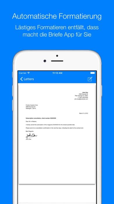 BriefeScreenshot von 3