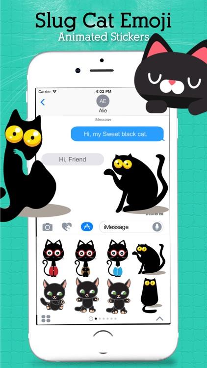 Animated Sluggish Cat Emoji screenshot-4