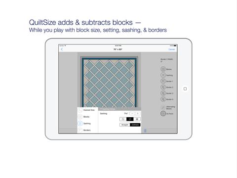 QuiltSize - náhled