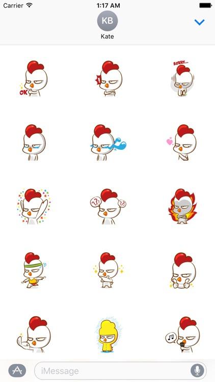 Grumpy Chicken Stickers Pack
