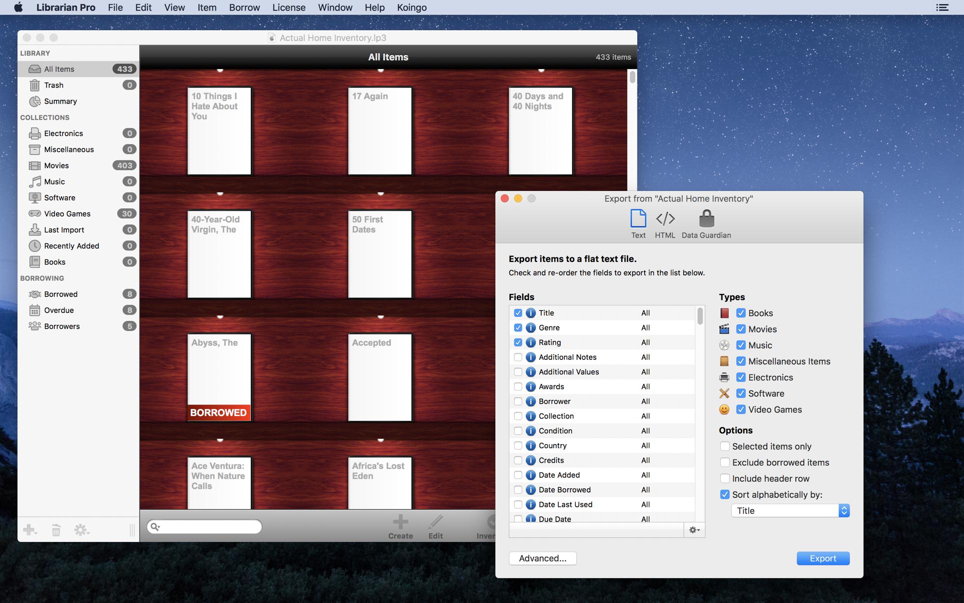 Librarian Pro 5.1.3 Mac 破解版 多媒体信息收集管理应用