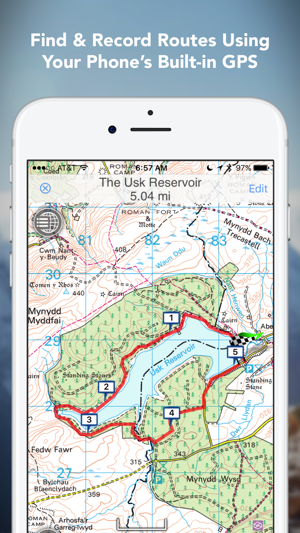 Outdoors gb offline os maps on the app store gumiabroncs Gallery
