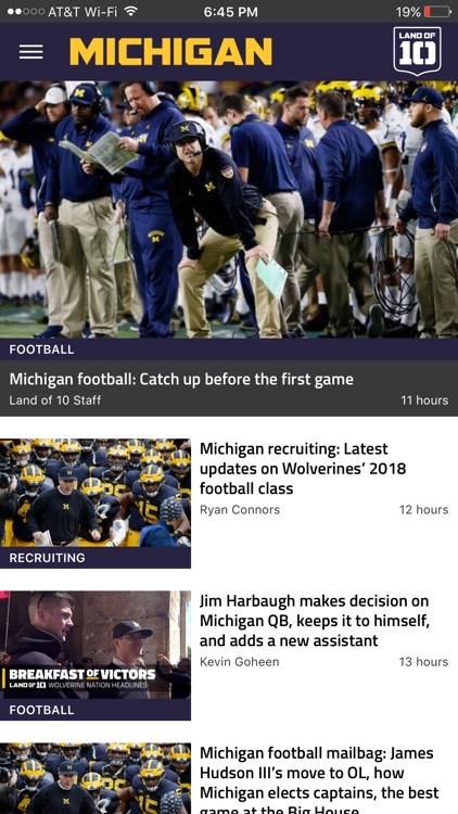 Landof10 - Big10 Football News screenshot-1