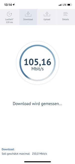 Breitbandmessung Screenshot
