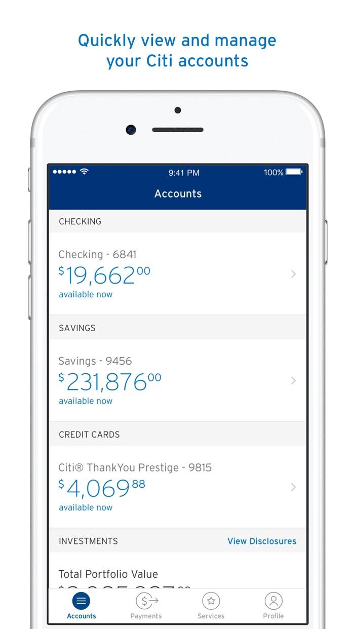 Citi Mobile® Screenshot