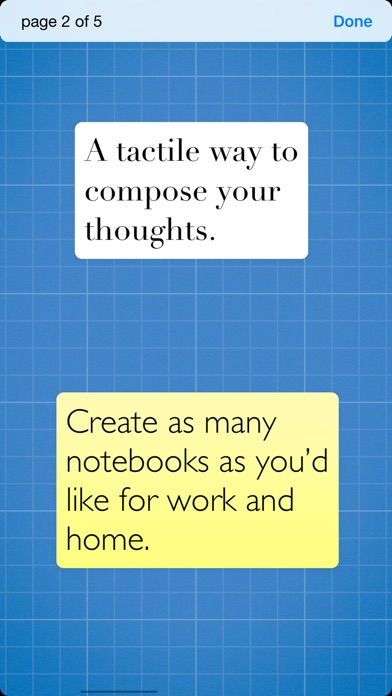 Sticky - simple notebooks