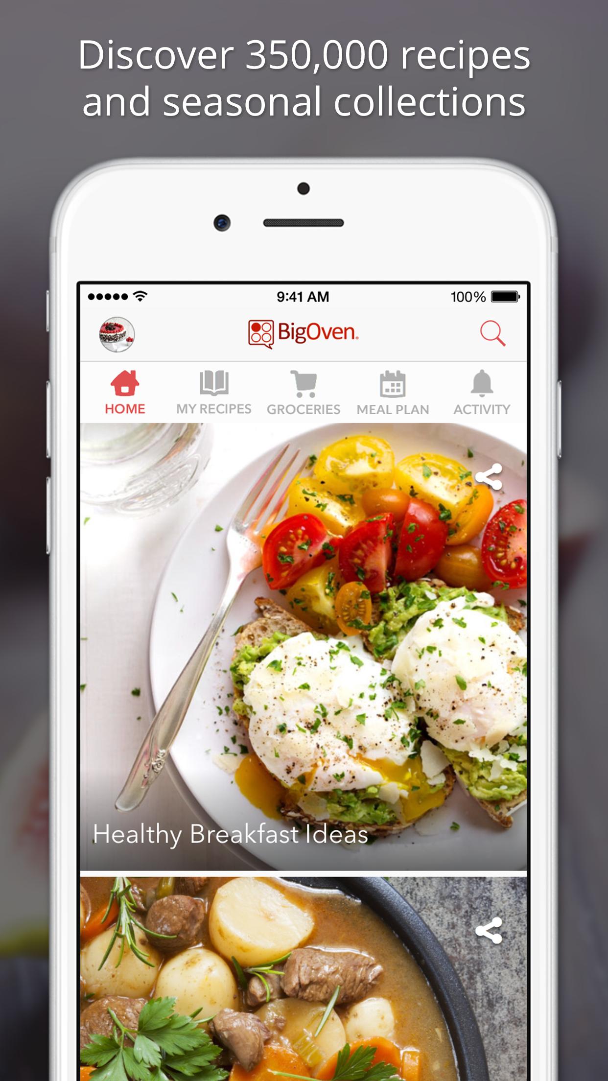 BigOven 350,000+ Recipes Screenshot