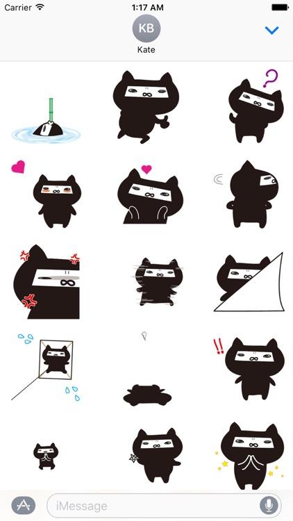 Animated Ninja Cat Sticker