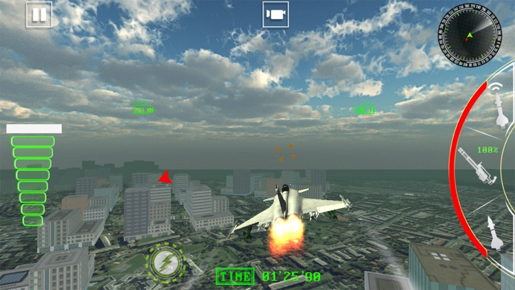 Air Jet Fighter Missile Attack