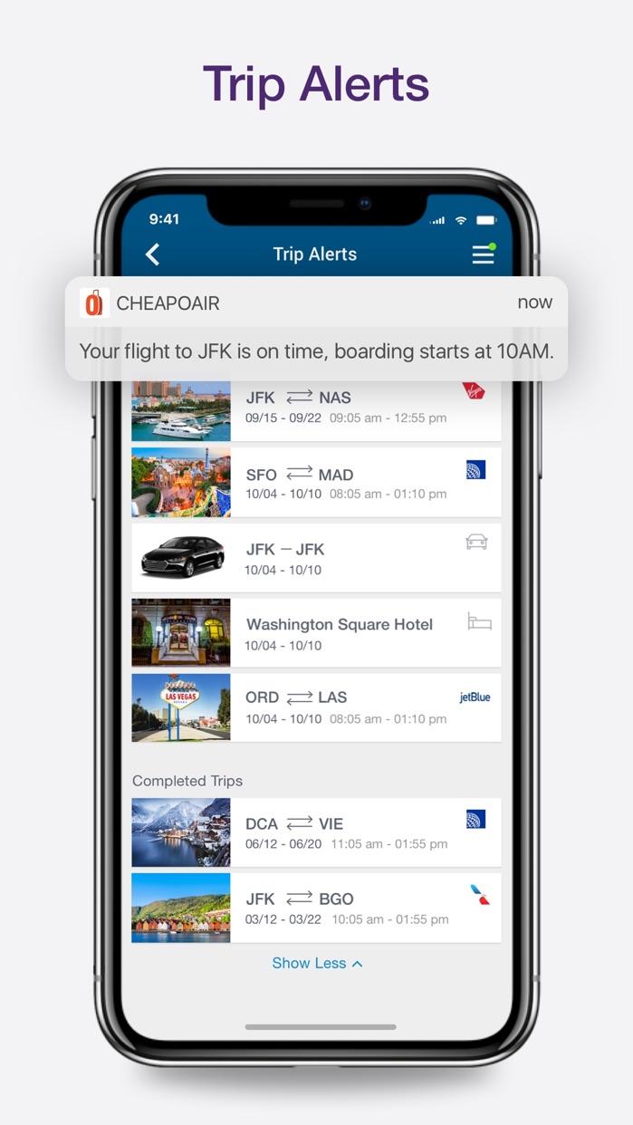 CheapOair Cheap Flights Deals Screenshot