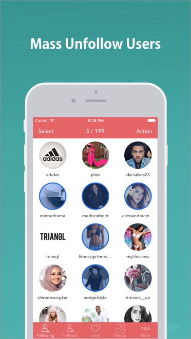 Screenshot for Mass Unfollow for Instagram in United States App Store