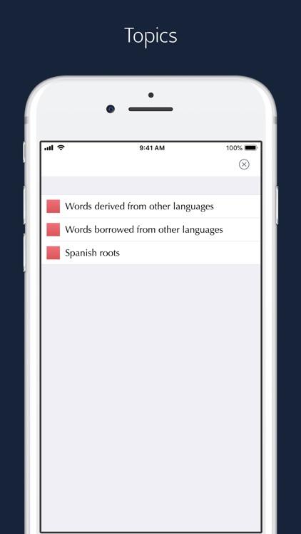 Spanish Etymology and Origins screenshot-6