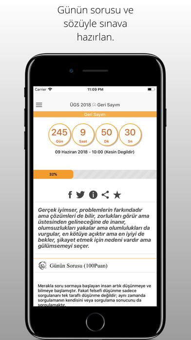 ÜGS (YGS) 2018 Geri Sayım screenshot one