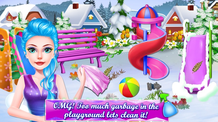 Ice Princess Cleaning Game screenshot-5