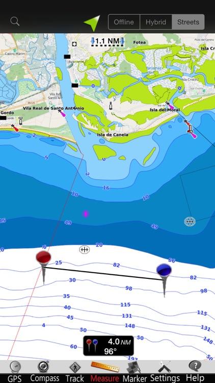 Portugal GPS Nautical Charts screenshot-3