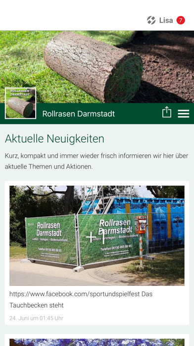 Rollrasen Darmstadt screenshot 1
