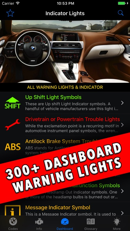 Bmw Dashboard Warning Lights