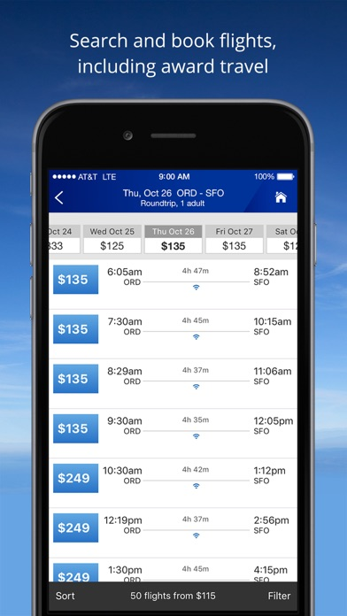 Screenshot for United Airlines in United States App Store