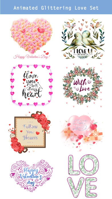 Happy Love Stickers - Animated screenshot 2