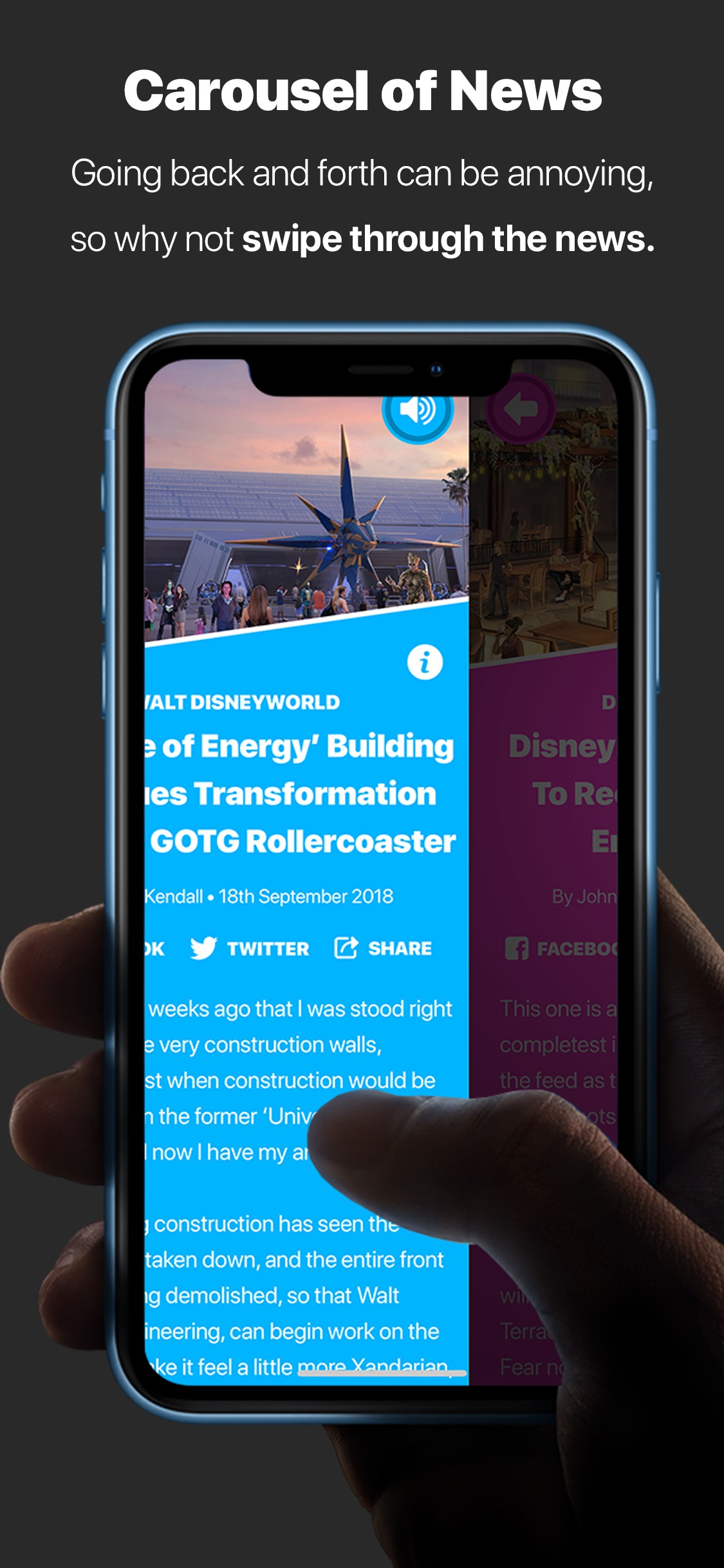 Screenshot do app DSNY Newscast