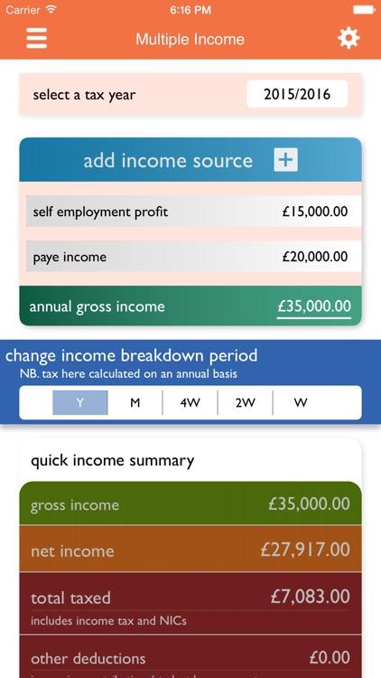 UK Tax Calculators 2019-20 screenshot-3