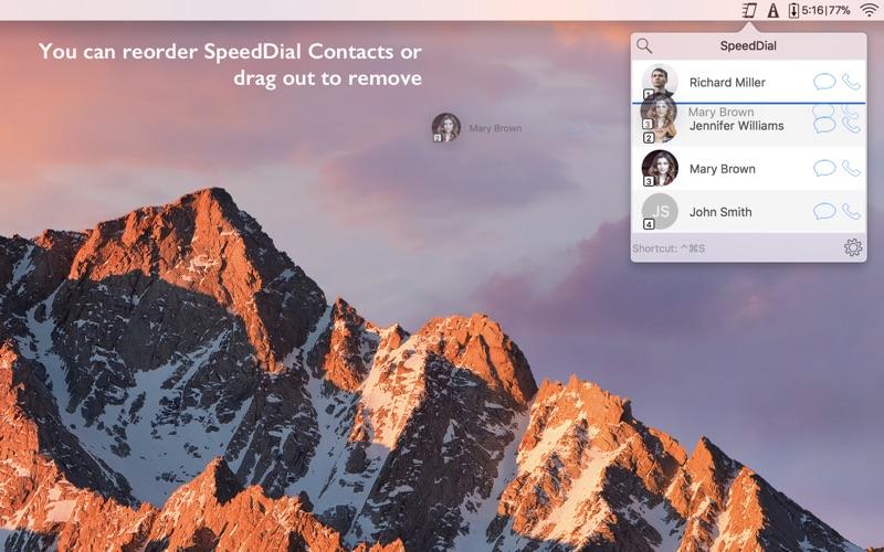 SpeedDial for Mac
