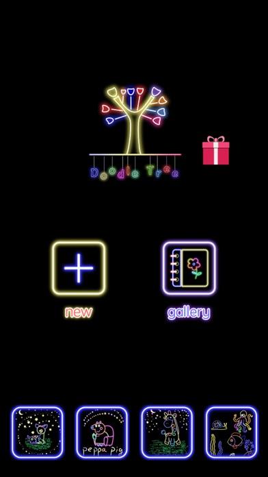 蛍光落書きツリー-マジック手描き図面&マンガ塗り絵 ScreenShot5