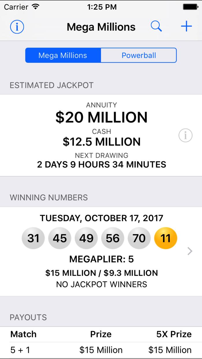 Mega Millions & Powerball Screenshot