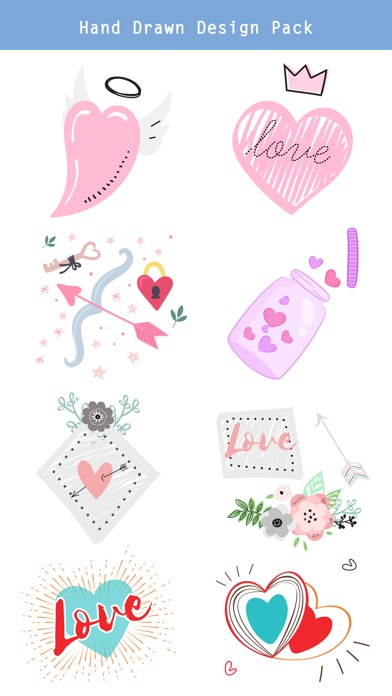 Hand Drawn Send Love Stickers screenshot 2