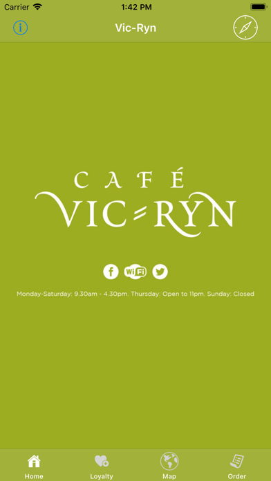 Cafe Vic-Ryn Loyalty App screenshot one