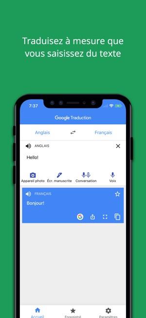 Google Traduction Dans LApp Store