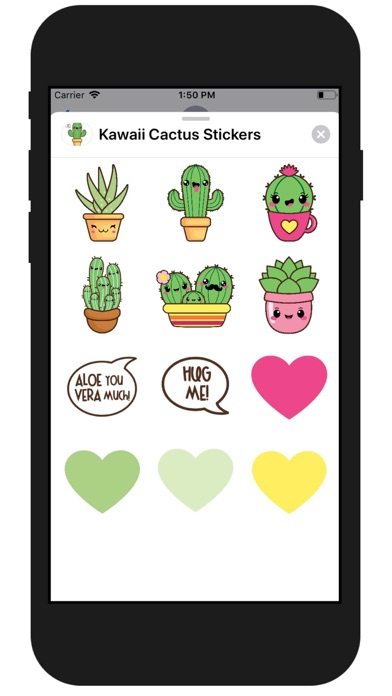 Kawaii Cactus Stickers screenshot two
