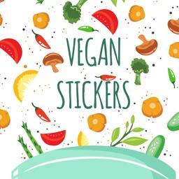 Vegan Food Stickers and Vegetarian