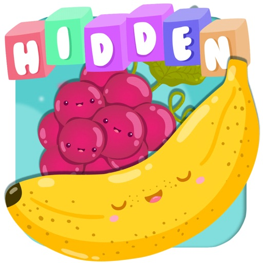 Hidden fruit game for toddlers