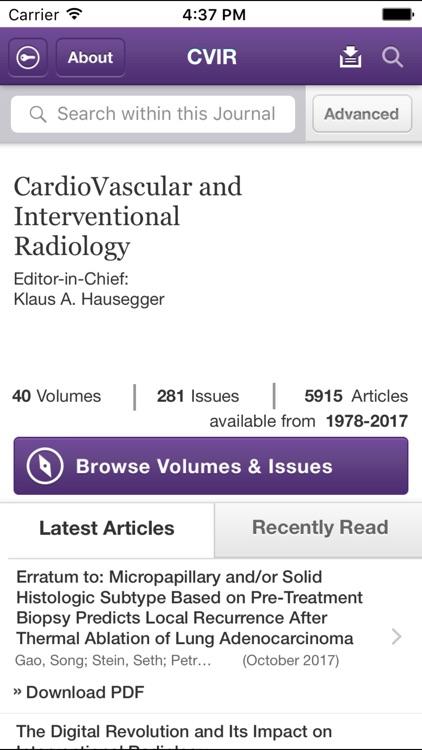 CVIR official journal of CIRSE