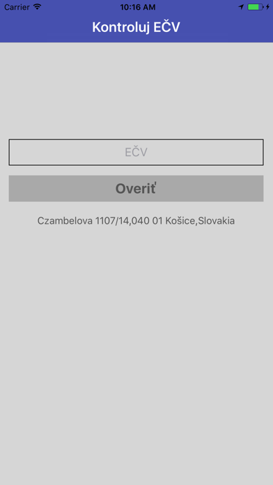 Kontroluj EČV screenshot one