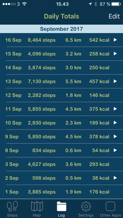 iSteps GPS Pedometer PRO screenshot three