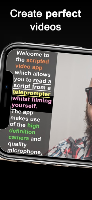 Teleprompter for video on the app store screenshots solutioingenieria Gallery