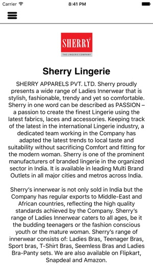 522bd7f2e3 Sherry Lingerie on the App Store