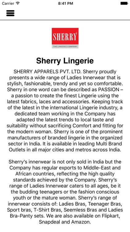 Sherry Lingerie screenshot-4