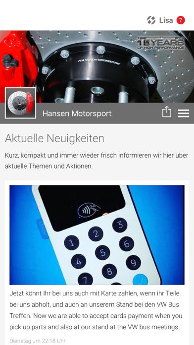 Hansen Motorsport screenshot 1