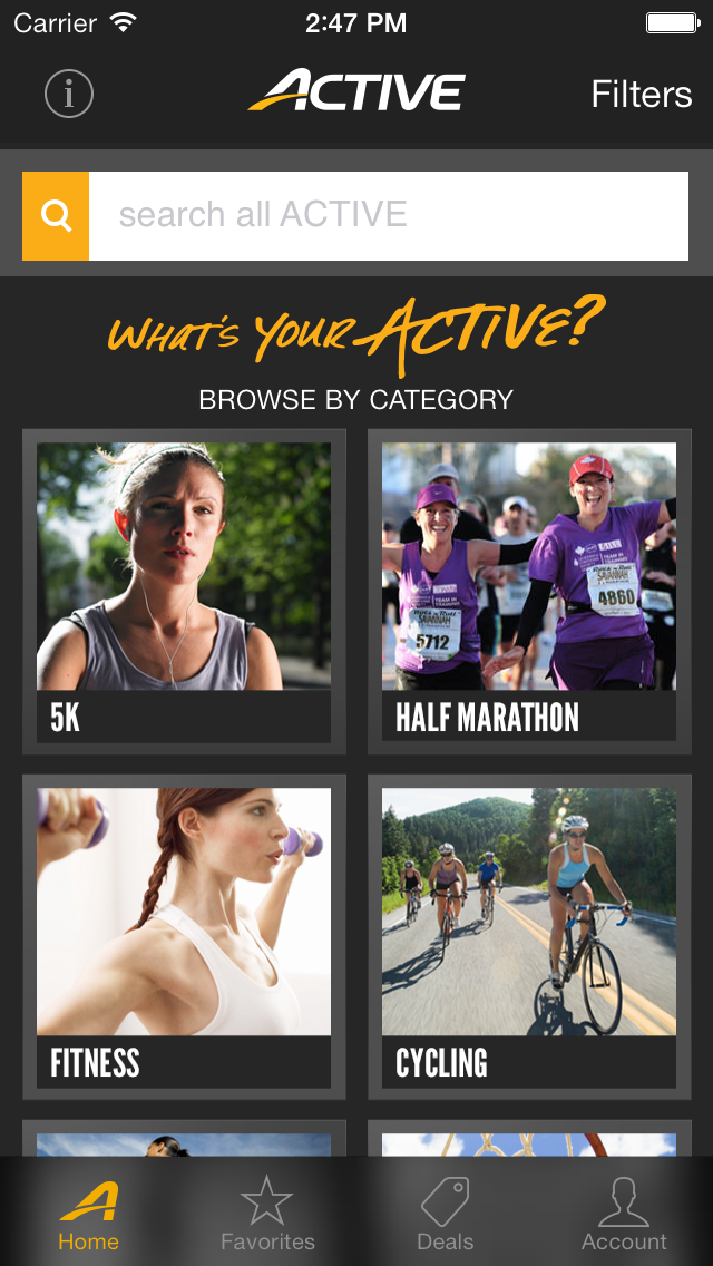 ACTIVE - Fitness Events Screenshot