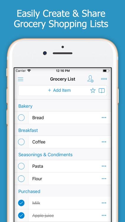 Shoppylist - Shopping List screenshot-0
