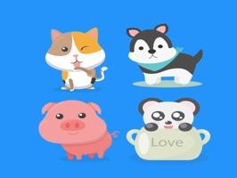 Sticker animal lover