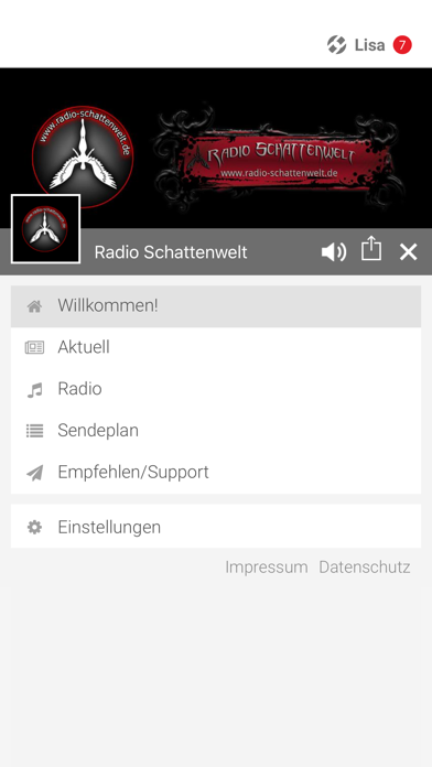 Radio Schattenwelt screenshot 2