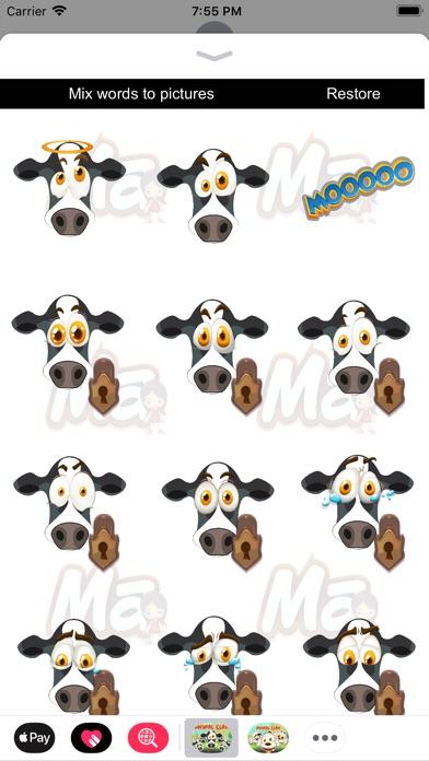 Animal Clan Cow Stickers Screenshot 2