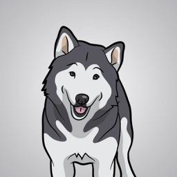 My Malmute DogMoji Stickers