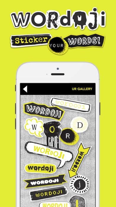 Wordoji - 簡単なステッカーメーカーのおすすめ画像1