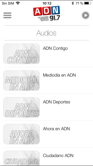 ADN Radio para iPhone Screenshot
