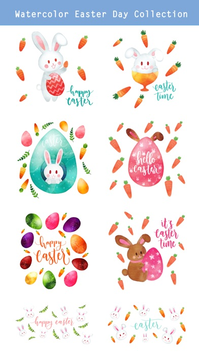 Watercolor Easter Day Stickers screenshot 2
